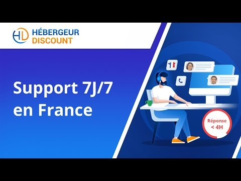 Support 7j 7 en France - Hébergeur-Discount.com